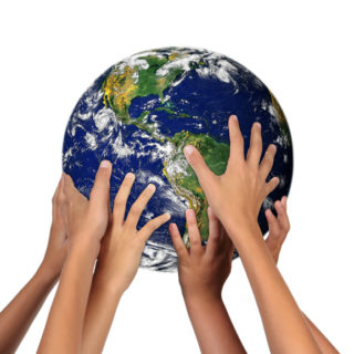 Children Holding the Earth: The Future is in Their Hands